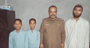 تھانہ سرائے مغل پولیس کی کاروائی دو مغوی بچے بازیاب، ملزم کو گرفتار کرلیا