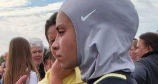 مسلمان ایتھلیٹ حجاب پہننے پر مقابلے سے باہر