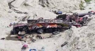 گلگت بلتستان: مسافر کوسٹر کھائی میں جاگری، 19 افراد جاں بحق