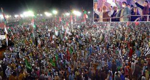 کراچی میں پی ڈی ایم کا عوامی قوت کا بڑا مظاہرہ، ایک بار پھر حکومت پر شدید تنقید
