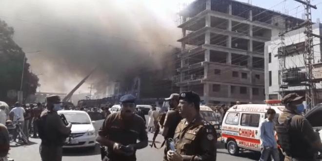 لاہور: حفیظ سنٹر فائراپریشن