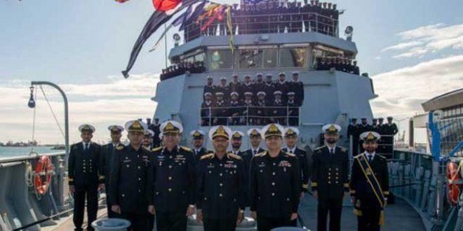 جدید آلات اور ٹیکنالوجی سے لیس جہاز پی این ایس تبوک کی پاک بحریہ میں شمولیت